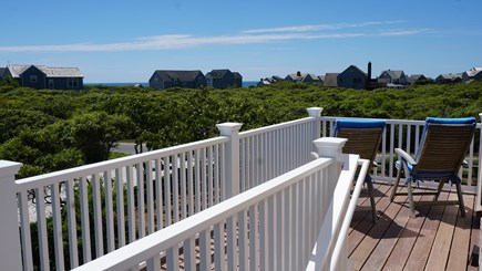 Tom Nevers, Nantucket Nantucket vacation rental - South shore facing deck. Ocean views between houses