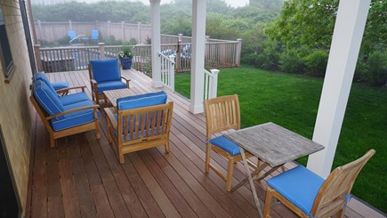 Tom Nevers, Nantucket Nantucket vacation rental - Lower level mahogany deck from 2 MBRs leading to pool and spa.