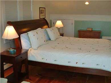 Siasconset Nantucket vacation rental - Master king bedroom with twin sofa sleeper