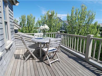 Siasconset Nantucket vacation rental - 2nd floor deck off the livingroom.