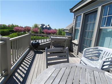 Siasconset Nantucket vacation rental - Another view of the deck.