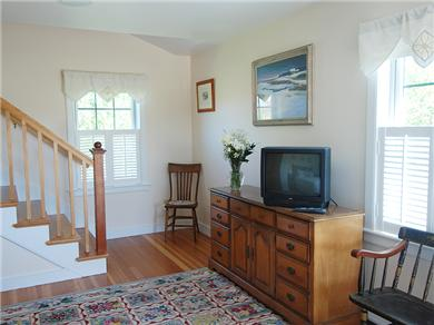Siasconset Nantucket vacation rental - Another view on the Master bedroom and stairs to upstairs.