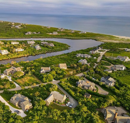 Madaket, Nantucket Nantucket vacation rental - House and ocean - House in lower left