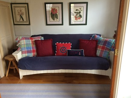 Tom Nevers East Nantucket vacation rental - Sleeping alcove w/ futon that opens to double bed (W/D in closet)