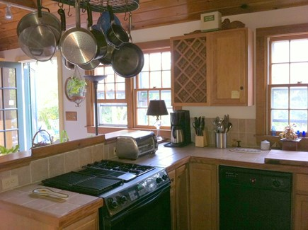 Tom Nevers East Nantucket vacation rental - Cottage Kitchen with Dishwasher, Stove, Microwave & Toaster Oven