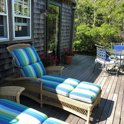 Tom Nevers East Nantucket vacation rental - Huge deck w/ chaises, hammock, table & chairs and gas grill