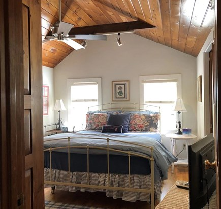 Tom Nevers East Nantucket vacation rental - Master bedroom with queen bed and cathedral ceilings