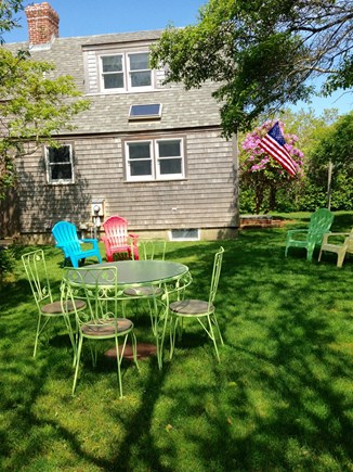 Tom Nevers, Nantucket Nantucket vacation rental - Enjoy sitting or dining al fresco in the grassy yard