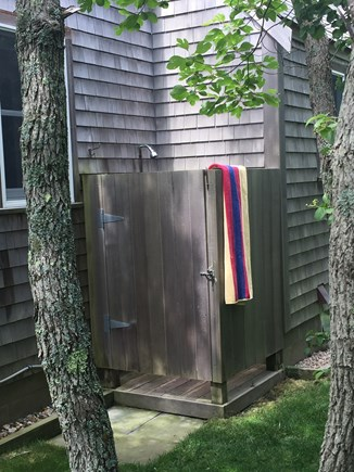 Tom Nevers, Nantucket Nantucket vacation rental - Enclosed outdoor shower with hot and cold water. So refreshing!