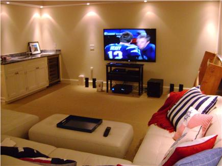 Madaket Nantucket vacation rental - Large Media Room 60'' HDTV, Surround Sound & DVD