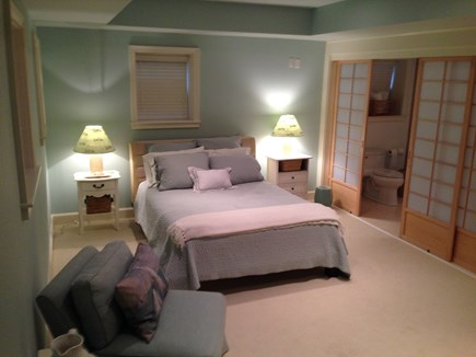 Madaket Nantucket vacation rental - Lower Level Bedroom suite w/ attached full bath, Japanese doors
