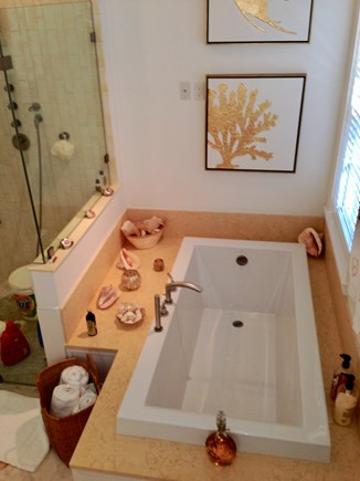 Madaket Nantucket vacation rental - Master Bathroom Air-jet Jacuzzi tub