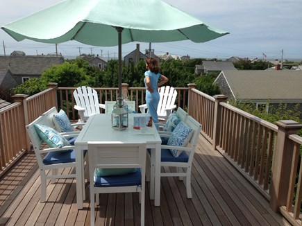 Madaket Nantucket vacation rental - Ocean & Harbor views from 2nd floor deck with outdoor gas grill.