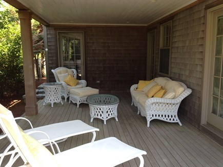 Madaket Nantucket vacation rental - Lanai ground floor outdoor deck, lighted & covered