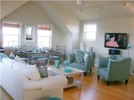 Madaket Nantucket vacation rental - Large 2nd floor Living Room, cathedral ceiling