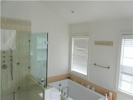 Madaket Nantucket vacation rental - Master Bathroom Shower & Air-Jet Jacuzzi