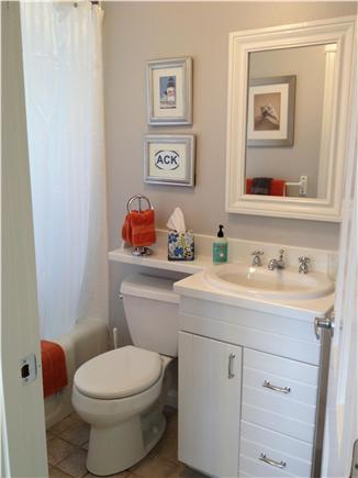 Nantucket town, Nantucket Nantucket vacation rental - First floor Bathroom w/ newly tiled tub/shower