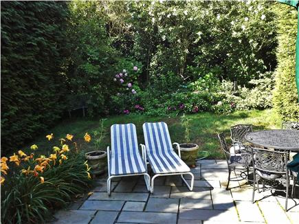 Nantucket town Nantucket vacation rental - Private, beautifully landscaped backyard with patio for relaxing.