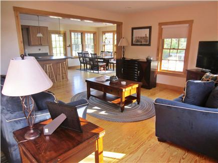 Nantucket town, Nantucket Nantucket vacation rental - Living room from front door TV, cable, BR/DVD, and Nintendo Wii