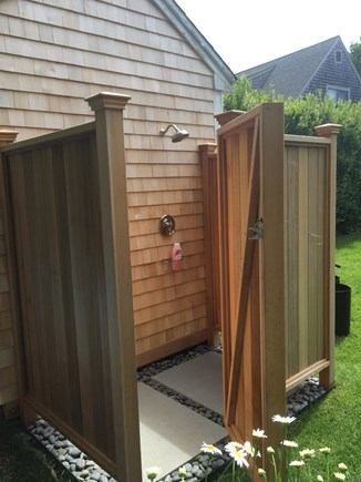 Mid-island, Naushop Nantucket vacation rental - New, spacious outdoor shower