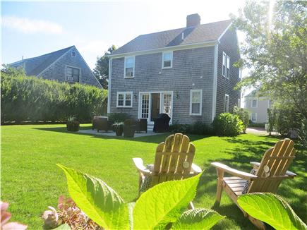 Mid-island, Naushop Nantucket vacation rental - Professionally landscaped, oversized backyard