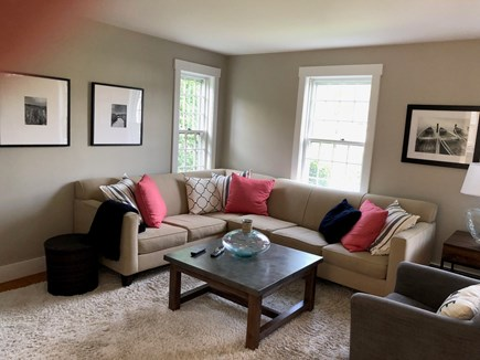 Mid-island, Naushop Nantucket vacation rental - Family room with flat screen TV, dvd player, bluetooth speaker