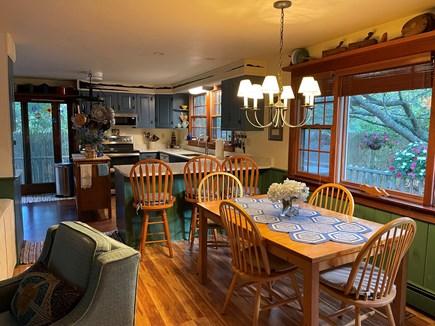 Mid-island Nantucket vacation rental - Kitchen/dining area…..kitchen has sliders onto wraparound deck