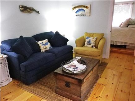 Nantucket town Nantucket vacation rental - Living room with sleep sofa and flat-screen TV