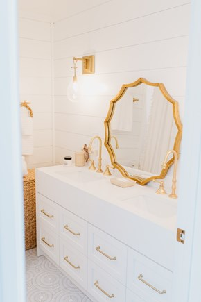 Siasconset, Cod Fish Park Nantucket vacation rental - Enjoy a relaxing bath in this custom room with mosaic glass tiles