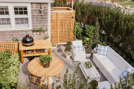 Siasconset, Cod Fish Park Nantucket vacation rental - The bluestone patio with Miles Redd outdoor furniture.