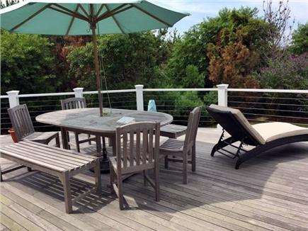 Madaket Nantucket vacation rental - Outdoor dining on huge deck
