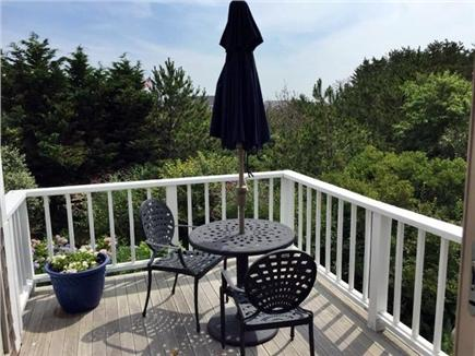 Madaket Nantucket vacation rental - Cozy second floor deck with water and sunset views