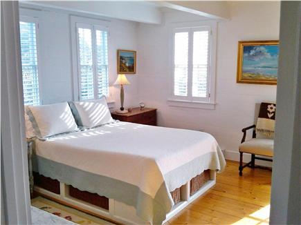 SURFSIDE Nantucket vacation rental - Sunny first floor master has own bathroom, French doors to deck