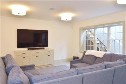 Nantucket town, Cliff Road Nantucket vacation rental - Basement TV room with 75 inch TV