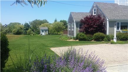 Nantucket town Nantucket vacation rental - front of house and side lawn