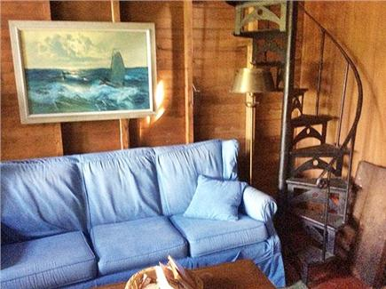 Dionis, Cliff Beach Nantucket vacation rental - Reading room and spiral staircase to a loft.