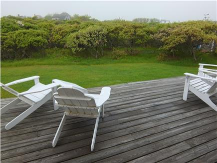 Tom Nevers Nantucket vacation rental - Views from the back deck are of natural vegetation and large yard