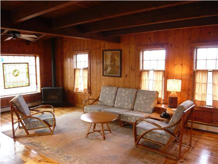 Tom Nevers Nantucket vacation rental - There is a gas log fire place in this Quaker inspired home.
