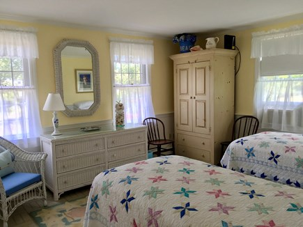 Nantucket town Nantucket vacation rental - Downstairs front bedroom, extra long twin beds.