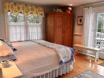 Nantucket town Nantucket vacation rental - 1st floor king bedroom with private deck.