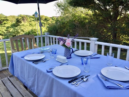 Nantucket town Nantucket vacation rental - Spacious private side deck.