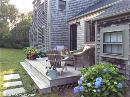 Cisco - Miacomet, Nantucket Nantucket vacation rental - Reading a book or enjoying company this warm deck is perfect