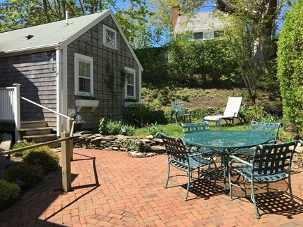 Nantucket Town Nantucket vacation rental - Garden/patio. Brick driveway area and patio for breakfast/lunch.
