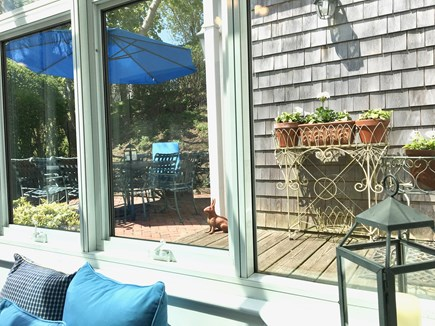 Nantucket Town Nantucket vacation rental - Indoor and outdoor dining at Hideaway with 2 outdoor areas