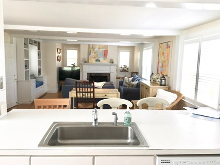 Nantucket Town Nantucket vacation rental - Large kitchen overlooking Living Room- open concept