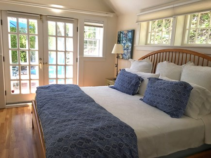 Nantucket Town Nantucket vacation rental - Master Bedroom has French doors which open to the upper patio.