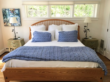 Nantucket Town Nantucket vacation rental - Master Bedroom is glowing with light and privacy.