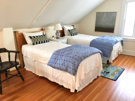 Nantucket Town Nantucket vacation rental - Twin Beds bedroom upstairs- large room and closet