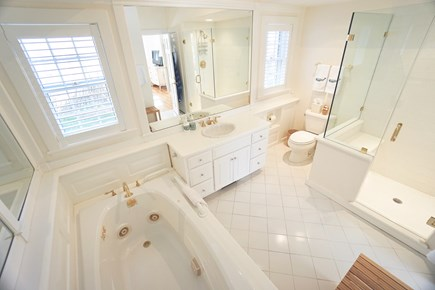 Nantucket Town Nantucket vacation rental - Jacuzzi tub and glass shower in spacious en suite Master Bathroom
