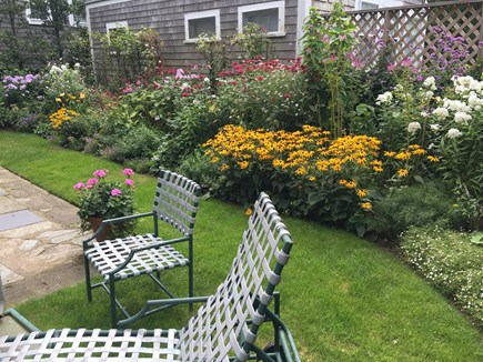 Nantucket Town Nantucket vacation rental - Beautifully landscaped back yard and seating area